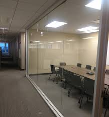 commercial interior glass door. Office Glass Partition Installed By Clear View Industries Inc. Commercial Interior Door