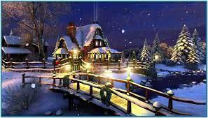 White christmas 3d screensaver and ...