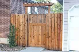 Fence Gate Arbor Designs How To Build A Fence Pergola