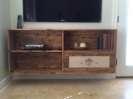 Homemade floating tv stand.