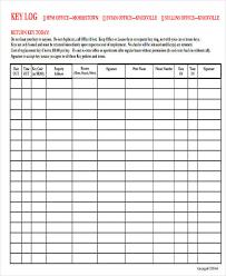 Key Sign Out Sheet 9 Sample Key Log Templates Pdf Word Excel