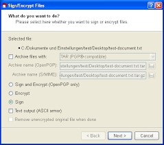 Gpg4win Compendium 18 Signing And Encrypting Files