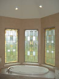 Stained Glass Window Designs For Bathrooms Modern Stained Glass Bathroom Windows Gold White Flickr