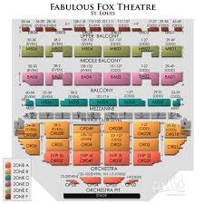 Fox Theater Atlanta Seating Chart With Numbers Best Seats St Louis Fox Theatre