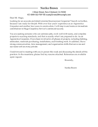 Apprentice Carpenter Cover Letter Examples Construction