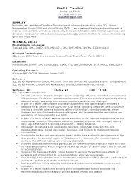 Entry Level Java Developer Resume Junior Programmer Sample For