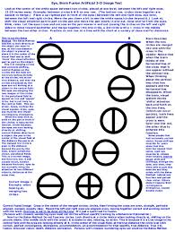 Double Vision Test Chart Warning Avoid Artificial 3 D Image Fusion Repetitive Eye