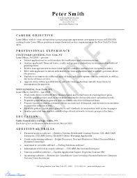 Mortgage Loan Officer Resume Free Resume Example And Writing
