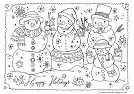 Free Holiday Coloring Pages Printable