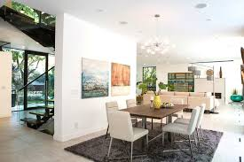 modern mansion dining room. Modern House Design Dining Room Midcentury With Wooden Standard Height Tables Mansion