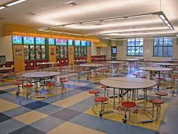 high school lunch table. School Cafeteria Design | Design: Conceptual Round Drop Leaf Tables, High Lunch Table