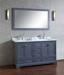 60 inch bathroom vanity double sink. 60 Inch Vanity For Your Bathroom Design: Stufurhome Chanel Grey Double Sink E