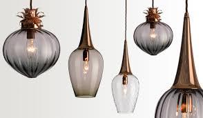 Kitchen Glass Pendant Lighting Good Hand Blown Glass Pendant Lights 97 About Remodel Pendant
