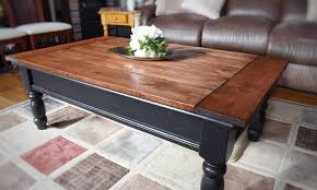 rustic coffee table a makeover art as the anchor