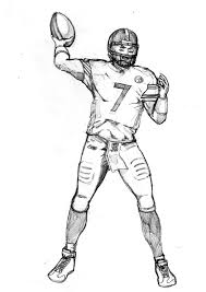 how to draw football players football player coloring pages of nfl coloring pages logos coloring pages