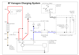 87 vanagon schematics alternator charging system
