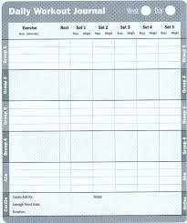 Workout Cardio Log Sheet Free Journal Aconcept Co