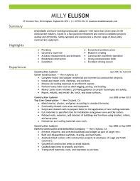 Construction Job Resume Construction Laborer Resume Examples And Samples Examples of Resumes 34