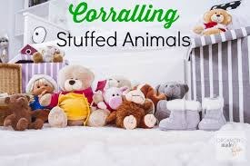 Corralling Stuffed Animals -- Get them decluttered and organized ::  OrganizingMadeFun.com