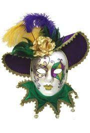 Decorative Masquerade Masks Purple Green and Gold Venetian Masquerade Mask Hand Painted 58
