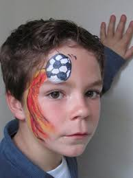boy face paint design