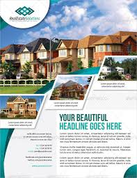 Real Estate Brochure Template Free 35 Beautiful Real Estate Flyer Templates Ai Word Pages