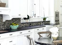 backsplash for kitchen with black granite countertop combined with black and white kitchen kitchen ideas white cabinets black for prepare cool kitchen