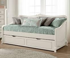 Kids Bedroom Furniture Collections Kensington Silver Finish Elizabeth Daybed With Trundle 30040 Ne