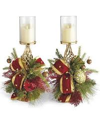 Under the Mistletoe Candle Holders, Set of Two - Frontgate Christmas Decor