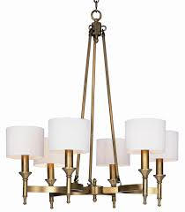 maxim lighting fairmont 6 light chandelier in antique brass