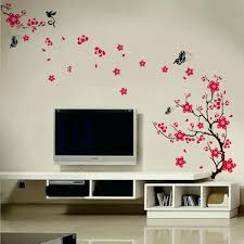 tree and butterfly wall decals blossom flowers tree wall stickers mural art  decal self adhesive blossom . tree and butterfly wall decals ...