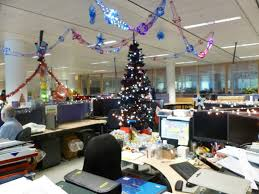 christmas themes for the office. Interior: Attractive Office Room In Christmas Decorating Theme . Themes For The