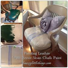 how to paint leather furniture. Diy Painting Leather Furniture, Chalk Paint, Painted Using Annie Sloan How To Paint Furniture