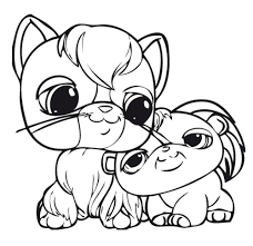 Littlest Pet Shop Coloring Pages Cat And Puppy Coloringstar