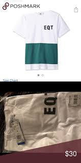 Adidas Mens Shirt Size Chart Mens Adidas Eqt Color Block T Shirt Size Medium New With