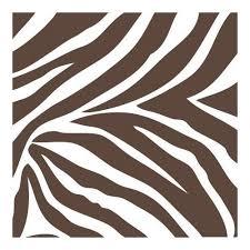 brown and white zebra instinct blox wall pops