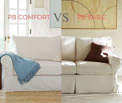 pb basic vs pb comfort two of the most popular pottery barn sofas