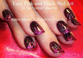 Nail Art Tutorial   Foil and Glitter Technique   Easy DIY Pink ...