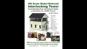 build an interlocking tower for your model railroad