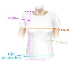 Chest Size Shirt Chart Womens Us T Shirt Size