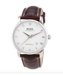 mini st watches for men simpletictock mido men s mido m86004268 baroncelli analog display swiss automatic brown watch