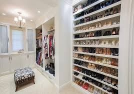 Full Wall Shoe Shelves
