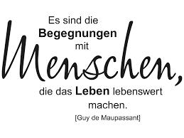 Wandtattoo Begegnungen mit Menschen leben KLEBEHELD®.DE
