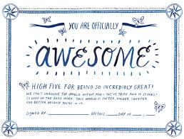 Certificate Of Awesomeness Template Certificate Of Awesomeness Template Christinegloria Us