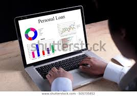 Personal Loan Chart On Laptop Screen Stock Photo Edit Now