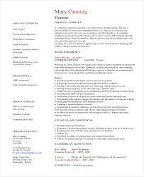 Dentist Resume Sample Resume