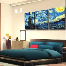 starry night canvas printed masters van prints retion oil painting on wall art picture for living starry night canvas joker themed painting