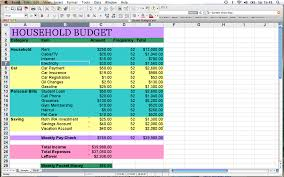 Sample Household Budgets Spreadsheet For Home Budget Template Excel Best Sample Free