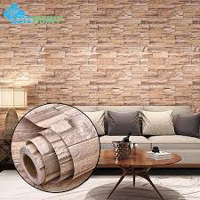 3m 5m modern vinyl self adhesive wallpaper pvc waterproof stone wallpapers gray white brick wall stickers for bedroom home decor wallpapers hd free
