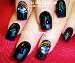 Robin Moses Nail Art: Rainbow No water Marble Nail Art Design ...